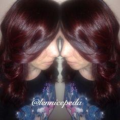 ..Balayage w/Wella Blondor, TIGi Copper fill, Wella Colortouch 44/65, medium brown/violet red violet (gloss)