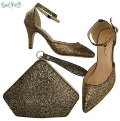 6ae87fa3e75 OLAMICH Newest WOMEN shoes and bag set to match lace fabric dress wedding  party Italian Shoes