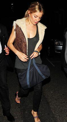Sienna Miller . Street style