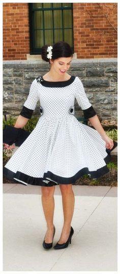 Pin-up-/Rockabilly-Kleid zum Selbernähen - Schnittmuster und Nähanleitung via Makerist.de