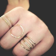 GOLD Minimalist Circle Ring SOLID 14k GOLD, Organic Bohemian Texture, Ultra Thin 1.3mm https://www.etsy.com/listing/226031839/gold-minimalist-circle-ring-solid-14k?ref=shop_home_active_11