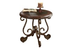 Dark Brown Rafferty End Table View 2
