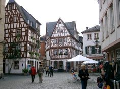 Mainz, Germany  rainy and chilly where I live today... would love to be heading here for Zwiebelkuchen and Federweisser (is there Federweisser yet this year?)