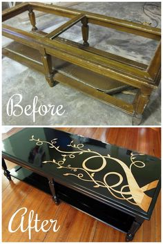 give an old coffee table a makeover for just a few pennies! http