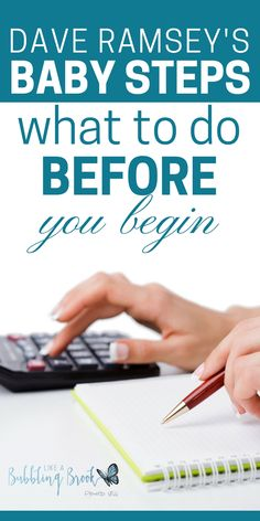 What to do BEFORE you begin Dave Ramsey's Baby Steps – Finance tips, saving money, budgeting planner Financial Peace, Financial Tips, Financial Planning, Budgeting Finances, Budgeting Tips, Dave Ramsey Debt Snowball, Faire Son Budget, Total Money Makeover, Living On A Budget