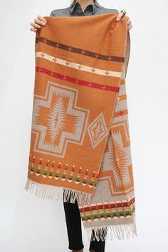 pendleton scarf in squash