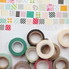 Love me some washi tape! Keep track of what you have by sticking a piece of each to a page in your journal