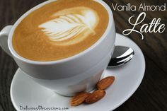Vanilla Almond Latte Made with Herbal Coffee // deliciousobsessions.com