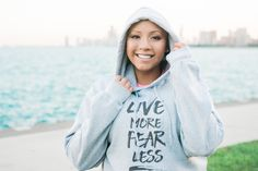 Hey, I found this really awesome Etsy listing at https://www.etsy.com/listing/488311541/live-more-fear-less-hoodie-quote-hoodie