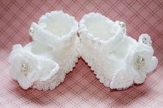 CC9- Preemie Chenille Mary Janes Bootie Pattern