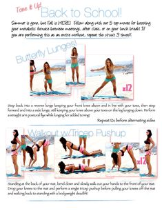 Summer is Gone, but Fall is HERE! Follow along with us on the beach as we show you our 5 top moves for boosting your metabolic furnace between meetings, after class, or on your lunch break! <3 Your Trainers from Toneitup.com, Karena & Katrina