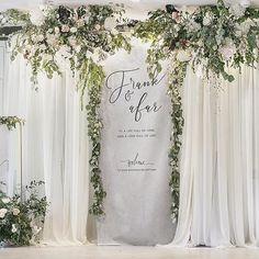 Wedding Flowers September Decoration 40 Ideas For 2019 Wedding Backdrop Design, Floral Backdrop, Ceremony Backdrop, Engagement Decorations, Backdrop Decorations, Wedding Decorations, Wedding Photo Walls, Wall Backdrops, Wedding Background