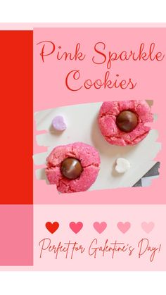 Yummy Cookies, Sugar Cookies, Parchment Paper Baking, Pink Food Coloring, Dessert Blog, Pink Foods, White Cake Mixes, Valentines Day Treats, Taste Buds