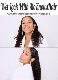 How to get the wet look using MoKnowsHair curl collection Beauty Tips, Beauty Hacks, African American Hairstyles, Wet Look, Hair Videos, Curls, Curly Hair Styles, Collection, Beauty Tricks