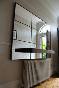 hand made walnut panel mirror - with solid walnut floating drawer. Floating Drawer, Mirrors, Drawers, Divider, Room, Handmade, Furniture, Home Decor, Bedroom