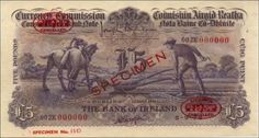 Ploughman Colour Trial Bank of Ireland signed Gargan (De la Rue Specimen) Old Irish, Banks, Colour, Things To Sell, Color, Colors, Couches