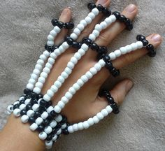 Hey, I found this really awesome Etsy listing at https://www.etsy.com/listing/161195578/skeleton-kandi-fingerlets