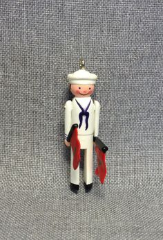 1987 SAILOR Clothespin SOLDIER HALLMARK CHRISTMAS ORNAMENT Series #6 Navy NIB