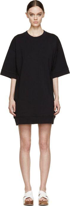 Acne Studios Black Velika Sweatshirt Dress