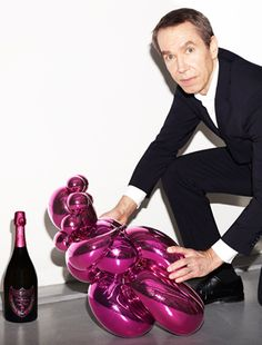 Jeff Koons and Dom Pérignon.