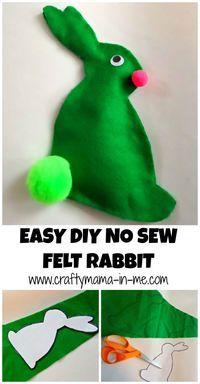 Easy DIY No Sew Felt Rabbit - Crafty Mama in ME!