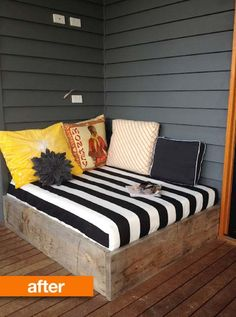 outdoor lounge area! we WILL build a deck, eventually