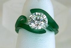 Wax carving of Platinum 'floating diamond' engagement ring… Metal Jewelry, Beaded Jewelry, Jewlery, Wax Ring, Lost Wax Casting, Making Ideas, Jewelry Crafts, Jewelry Design, Jewelry Making