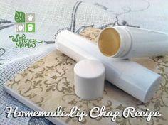 Homemade Lip Chap Recipe- simple and inexpensive to make