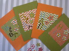 Hello Star Olive Green and Pumpkin Orange Folded by urbaneprincess, $8.00
