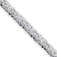 Sterling Silver 7.5 Inch Polished Fancy Link Bracelet - Toggle - JewelryWeb JewelryWeb. $62.60