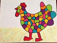 'Kip ik heb Je' workshop van 3 uur bij Let's Crea in Heemstede. Tekenvaardigheid is niet nodig. We werken met een sjabloon.