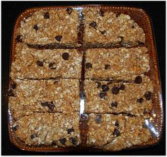 No Bake Protein Bars -   I made these and liked them, but I used 3 scoops of protein powder (and might use two next time) and maybe a little bit more on the chocolate chips. :D Edit 2: I have been using two scoops of cookies and creme muscle milk powder with a little extra chocolate chips.  These are perfect this way!