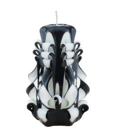 Carved candle Black and white