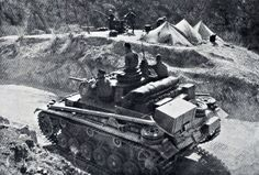 German Panzer Korps PzKpfw III XI protects a mountain pass Greece 1941-01