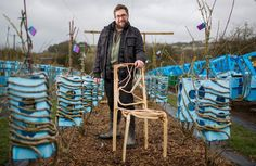 Man Who Grows Natural Chairs