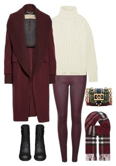 """""""A"""" by assema123 ❤ liked on Polyvore featuring Burberry, Nili Lotan and Yves Saint Laurent"""