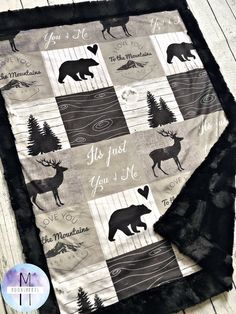 You cannot (or better you should not) use anything to cover your baby while s/he is sleeping before one year old, because of the security reasons. Baby Set, Baby Love, Easy Baby Blanket, Minky Baby Blanket, Baby Boy Rooms, Baby Boy Nurseries, Chevron, Bear Nursery, Baby Boy Outfits