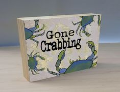 Artist Shanni Welsh's Gone Crabbing art panel with map of the San Juan islands. Gift for fisherman. Coastal home decor. Handmade Home Decor, Etsy Handmade, Handmade Items, Great Gifts For Guys, Wine Wall Decor, Crab Art, Islands In The Pacific, West Art, San Juan Islands