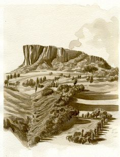 Pietra.Bismantova480 Reggio, Monument Valley, Abstract, Watercolors, Nature, Artwork, Painting, Travel, Madrid