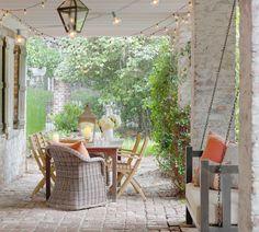 traditional porch by Linn Gresham Haute Decor, my love of stone!
