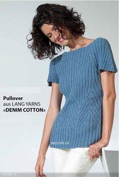 На каждый день: пуловер спицами от LANG YARNS. 4 размера + видео. Обсуждение на LiveInternet - Российский Сервис Онлайн-Дневников