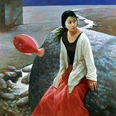 Xue Mo (b1966, Inner Mongolia, China; since 2011 based in Canada) --? | not her style, even colors...