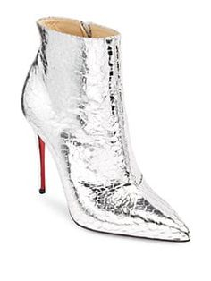 9b67025bd86 Christian Louboutin - So Kate 100 Mirrored Leather Booties High End Fashion