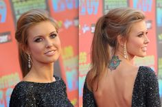 Prom hair!? With maybe some curl in the ponytail...