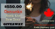 We're starting 2017 off with a big bang, a big cash giveaway! We've joined with some fabulous Canadian bloggers to bring you this HUGE cash giveaway!