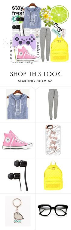 """Heads Up! Cute Hoodies"" by orietta-rose on Polyvore featuring WithChic, Icebreaker, Converse, Casetify, Vans, Moschino, Pusheen, ZeroUV and Hoodies"