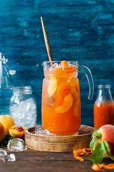Nước ép đào cà rốt mát lạnh bổ sung vitamin