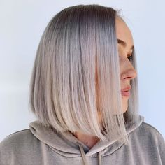 Rock this angled bob and make people drool over your look! Bob hairstyles like this are versatile to any shades. Pro tip--this shadow-rooted icy blonde is one of the modern hair color trends that you must try! Let us introduce you the more stunning angled bob styles! Click the link to visit our website. #angledbob #angledbobhairstyles Angled Bob Hairstyles, Short Bob Haircuts, Messy Hairstyles, Pretty Hairstyles, Prom Hairstyles, Light Hair, Dark Hair, Medium Hair Styles, Curly Hair Styles
