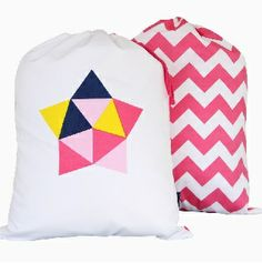 Star Santa sacks wth chevron backing Christmas Gifts For Girls 378d1d9a958c0