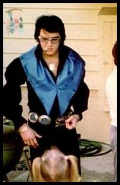 Elvis with Lisa Marie (Easter at Graceland)